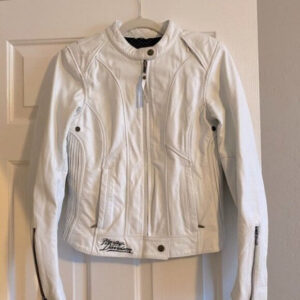 Harley Davidson White with Red Eagle Leather Jacket