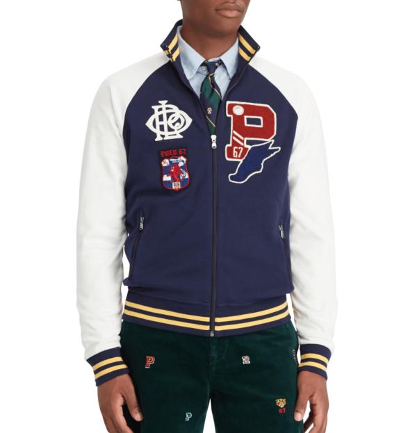 Polo Ralph Lauren Patch P Wing Crest Varsity Jacket