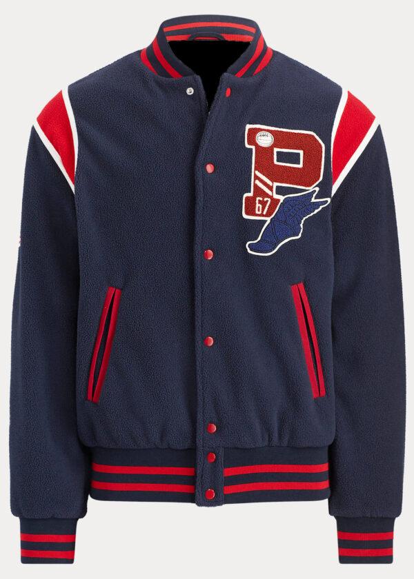Polo Ralph Lauren USA Patch P Wing Varsity Jacket