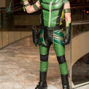 Smallville Green Arrow Justin Hartley Leather Costume