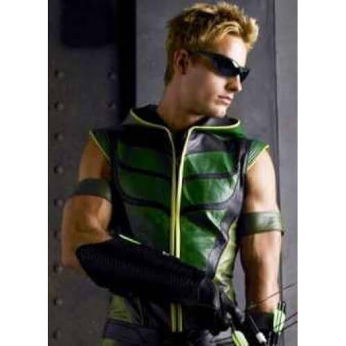 Smallville Green Arrow Justin Hartley Leather Vest