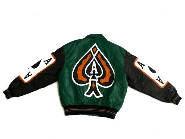 Vintage Ace of Spade Michael Hoban 90s Leather Jacket