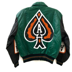 Vintage Ace of Spade Michael Hoban 90s Leather Jacket