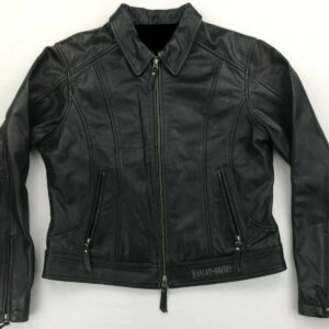 Harley Davidson Distinction Eagle Painted Leather Jacket