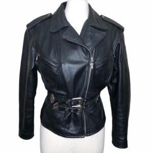 Harley Davidson Embossed Tattoo Biker Leather Jacket