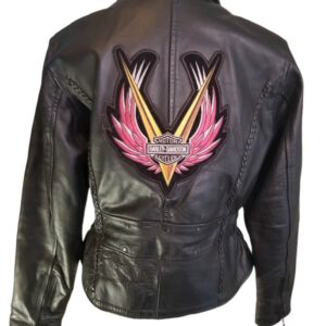 Harley Davidson Moto Biker Leather Jacket