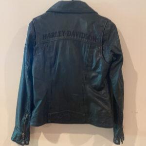 Harley Davidson Rebels Black Biker Leather Jacket
