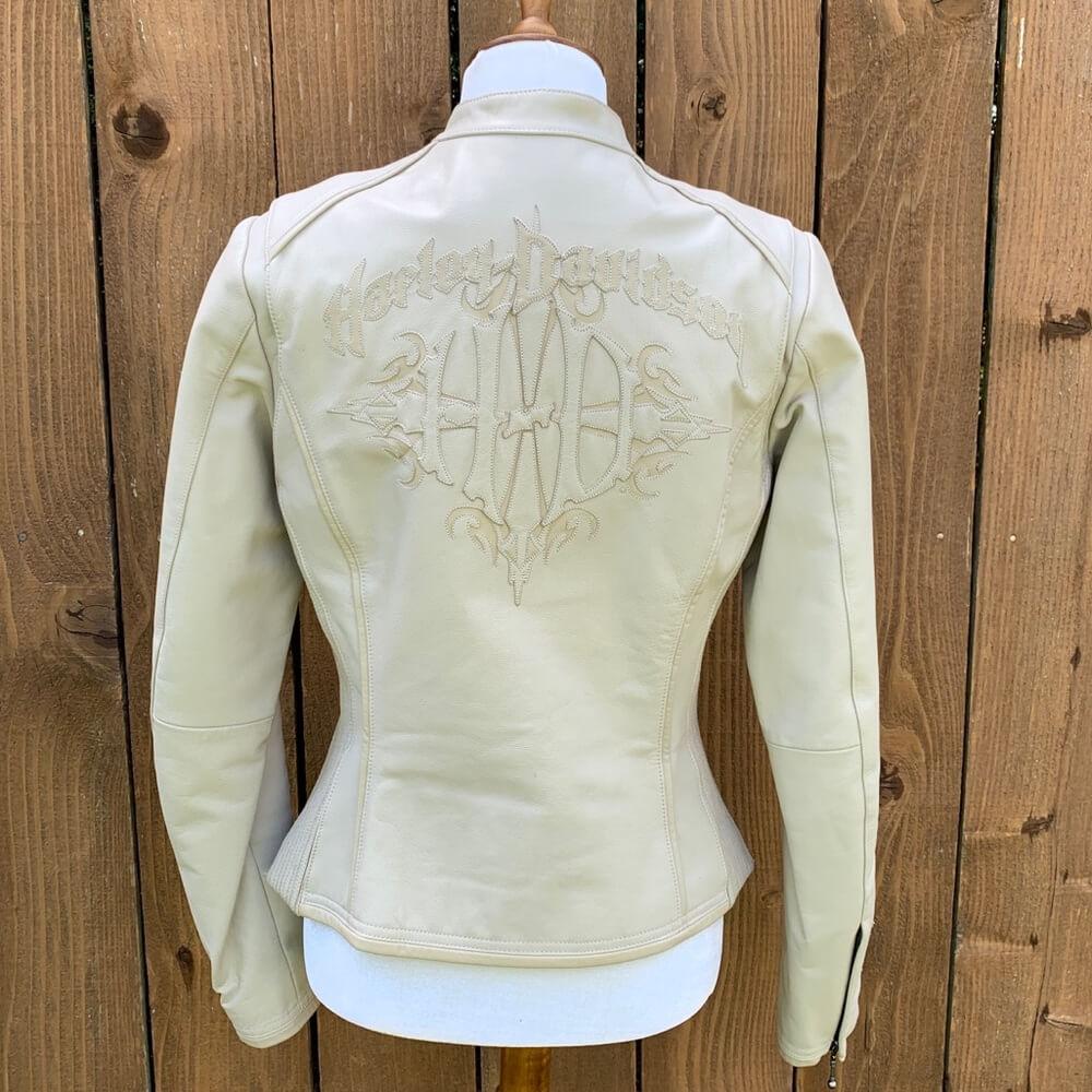 Harley Davidson Serendipity Cream Leather Jacket