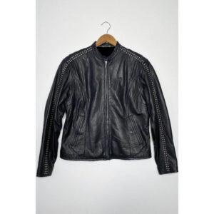 Harley Davidson Studded Black Leather Jacket