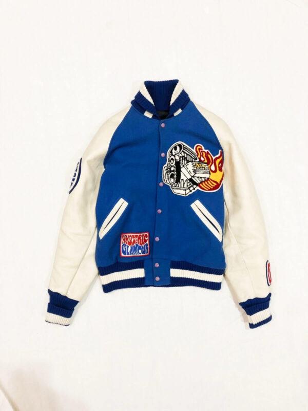 Hysteric Glamour Blue X Albion Varsity Jacket