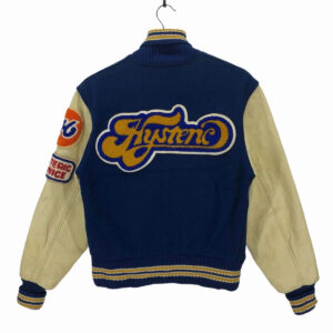 Hysteric Glamour Blue and Cream Varsity Jacket