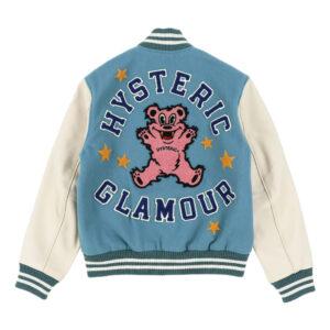 Hysteric Glamour Empty Room Blue Varsity Jacket