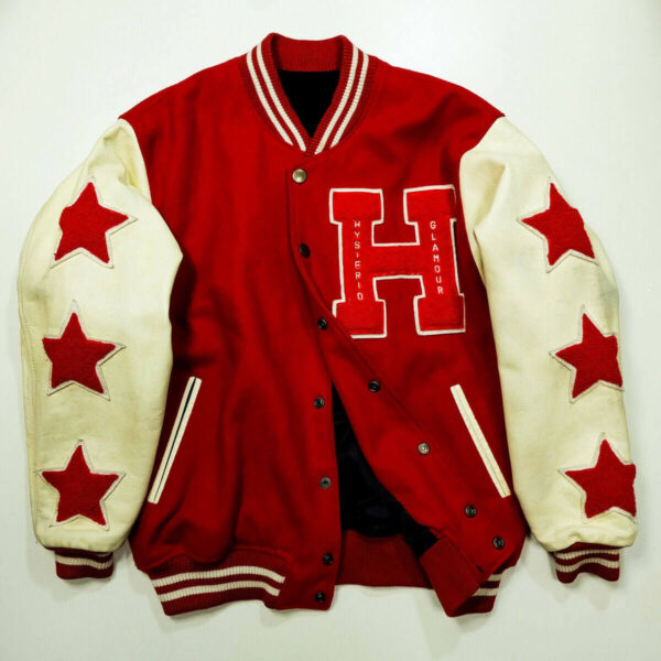 Hysteric Glamour Red Toy Robot Letterman Varsity Jacket