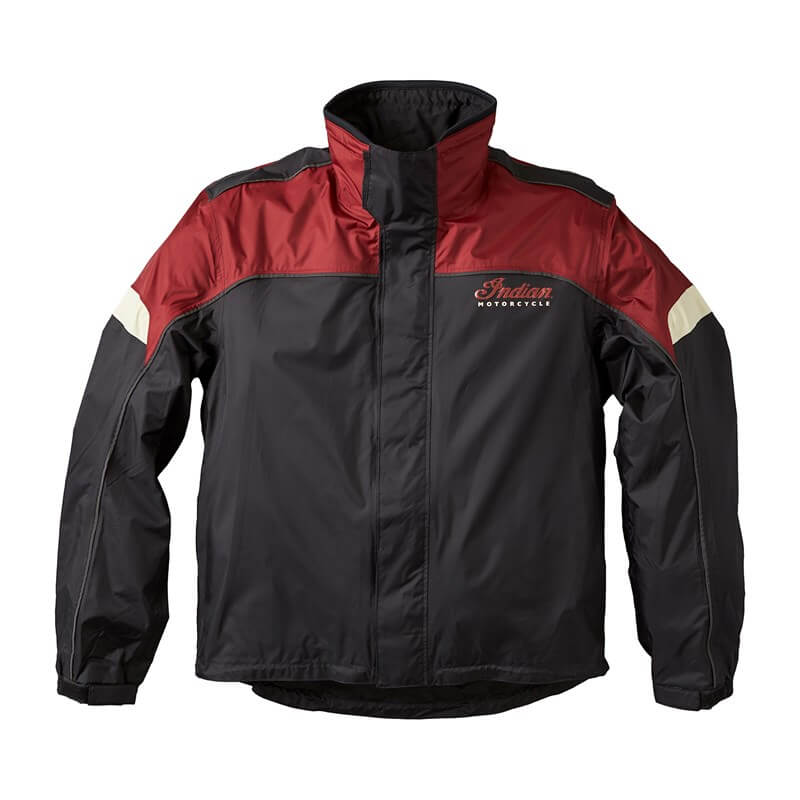 Black And Red Indian Motorcycle Racing Jacket