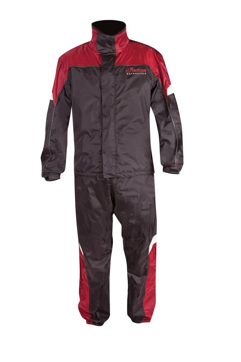 Black And Red Two Piece Indian Motorcycle Racing Suit