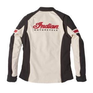 Black And White Indian Motorcycle Textile Jacket