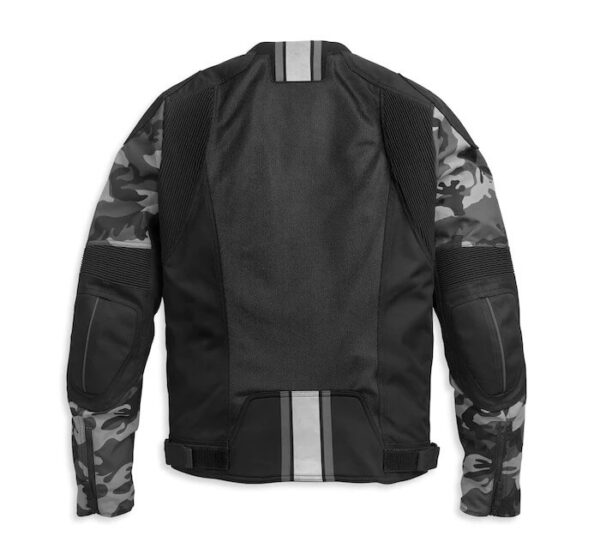 Black Harley Davidson Brawler Camo Jacket