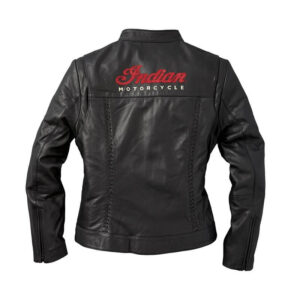 Black Indian Motorcycle Leather Charlotte Casual Jacket