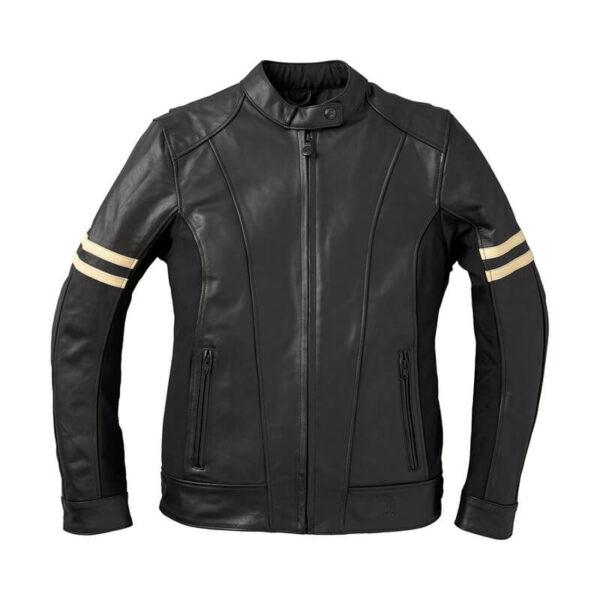 Black Indian Motorcycle Leather Riding Jacket