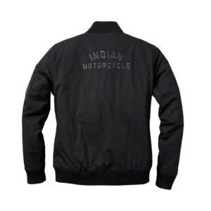 Black Indian Motorcycle Racing Casual Bomber Jacket