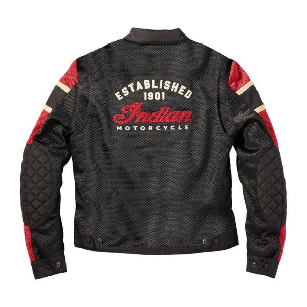 Black Indian Motorcycle Racing Mesh Jacket