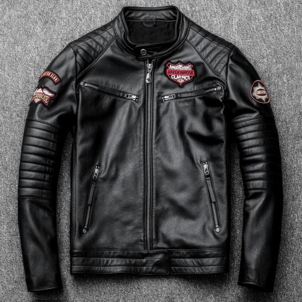 Black Indian Motorcycle Racing Skull Leather Jacket