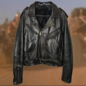 Black Indian Motorcycle Racing Vintage Leather Jacket