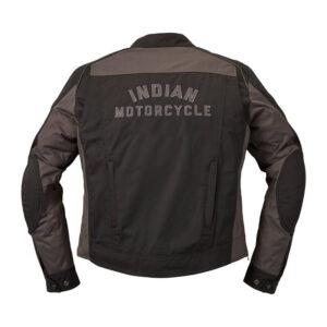 Black Indian Motorcycle Textile Flint Riding Jacket