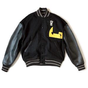 Black L Five 40s Varsity Letterman Jacket