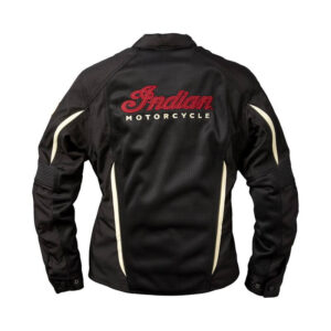 Black Mesh Springfield Indian Motorcycle Racing Jacket