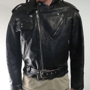Black Vintage Indian Motorcycle Leather Jacket