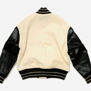 Black White I Five 40s Varsity Letterman Jacket