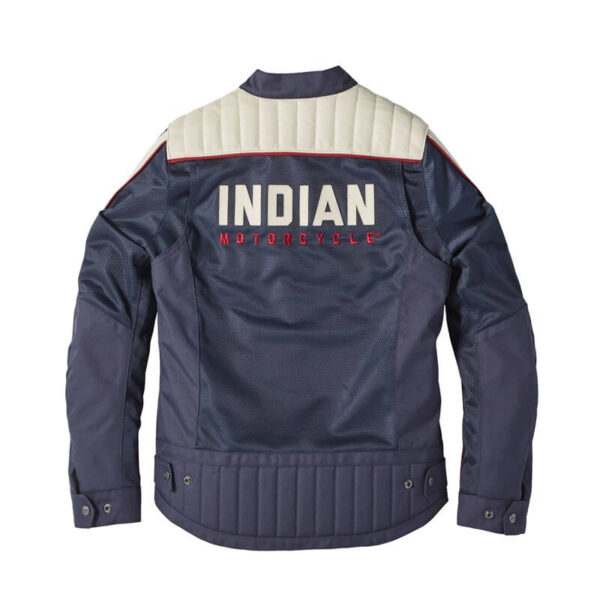 Blue Indian Motorcycle Racing Mesh Arizona Jacket
