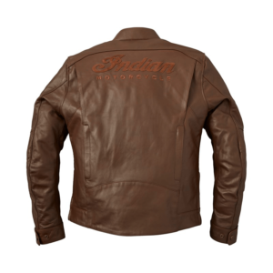 Brown Indian Motorcycle Leather Getaway Riding Jacket