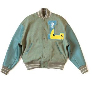 Grey Blue L Five 40s Varsity Letterman Jacket