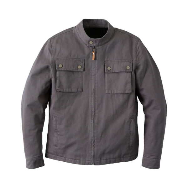 Grey Indian Motorcycle Casual Twill Weave Jacket