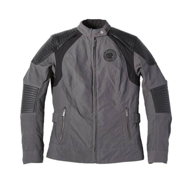Grey Indian Motorcycle Racing Textile Jacket
