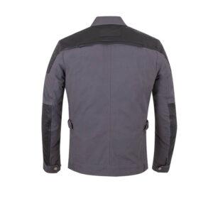 Grey Montana Lightweight Waxed Textile Riding Jacket