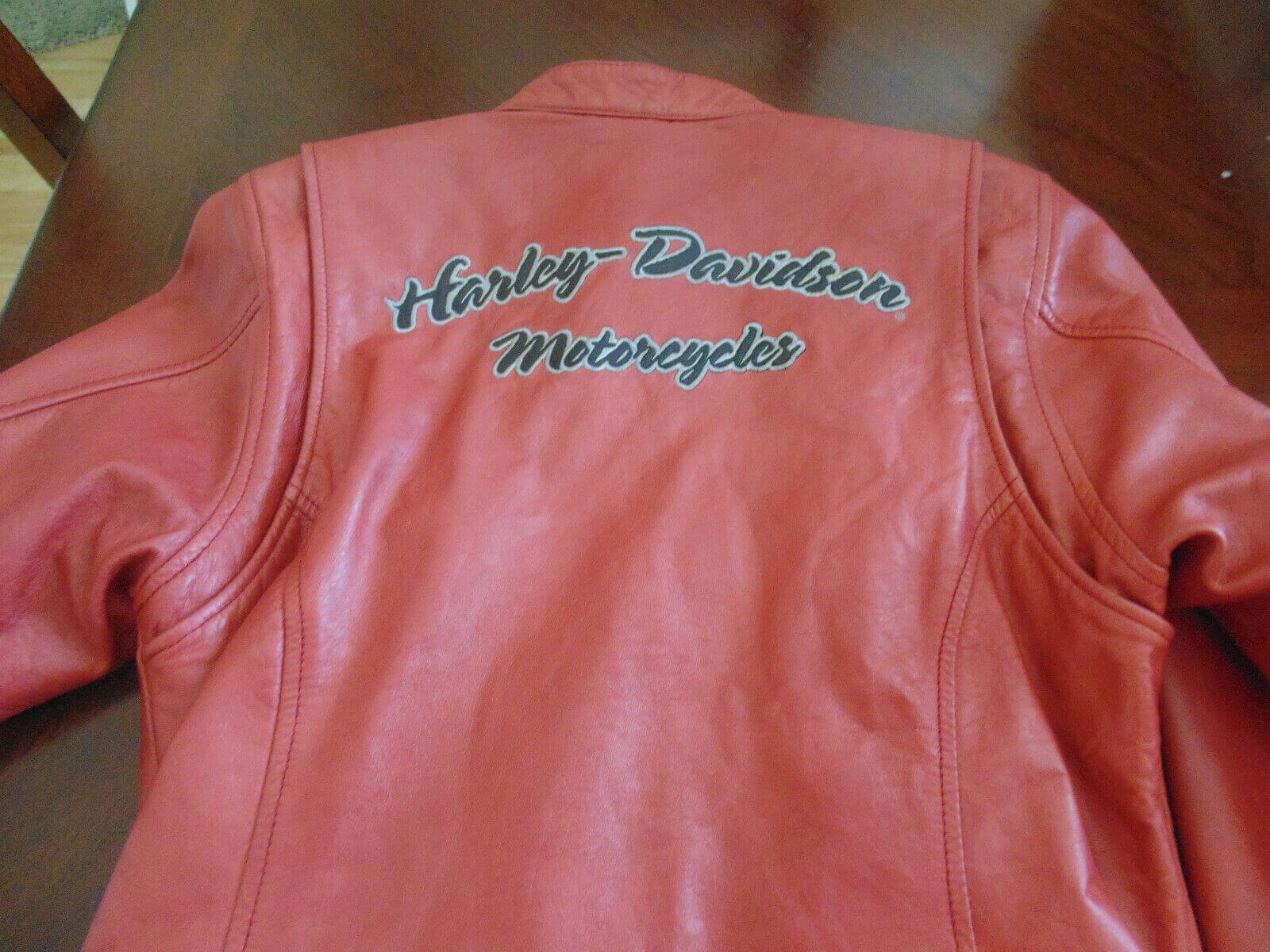 Harley Davidson Leather Orange Riding Jacket