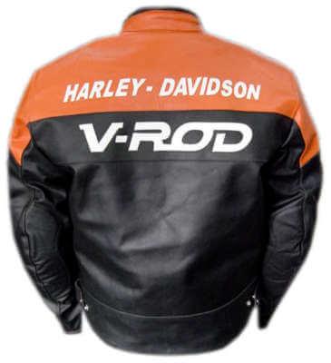Harley Davidson V Rod Motorcycle Racing Leather Jacket