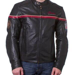 Indian Motorcycle Freeway Black Leather Jacket