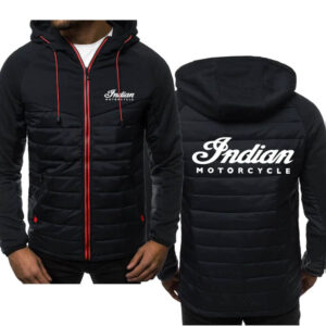 Indian Motorcycle Black Spring Autumn Casual Jacket