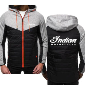 Indian Motorcycle Grey Spring Autumn Casual Jacket