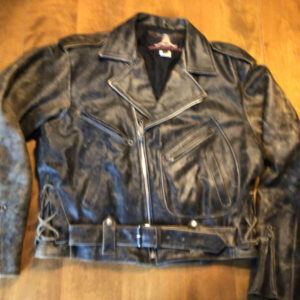 Indian Motorcycle Racing Black Leather Jacket