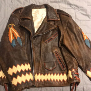 Indian Motorcycle Racing Brown Leather Jacket