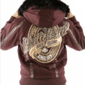 Maroon Pelle Pelle Born And Raised Hooded Jacket