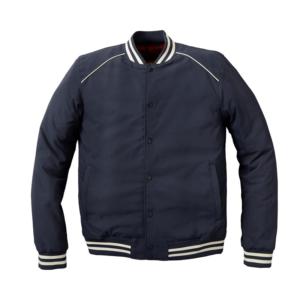 Navy Blue Casual Retro Bomber Vintage Jacket