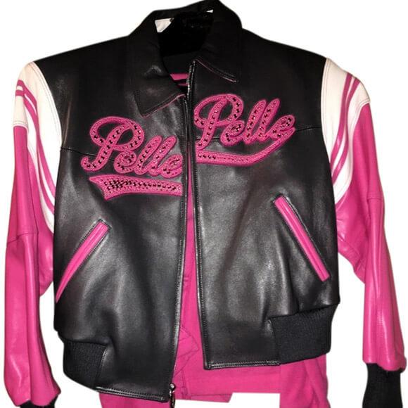 Pelle Pelle Pink Vintage Leather Jacket