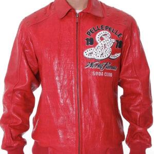 Pelle Pelle Red Soda Club Leather Jacket