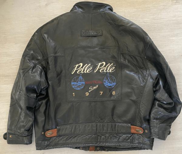 Pelle Pelle Vintage 80's Black Leather Bomber Jacket